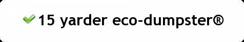 18 cubic yard eco dumpster