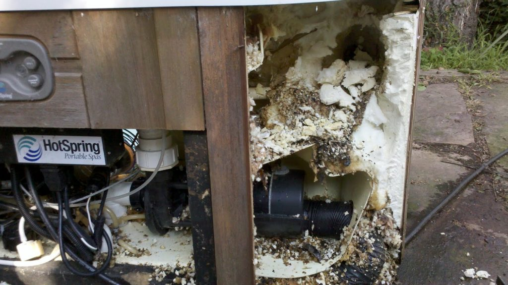 This hot tub removal was requested after the tub stopped working.