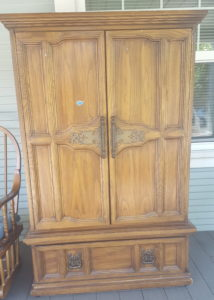 We donated this armoire to a local charity.