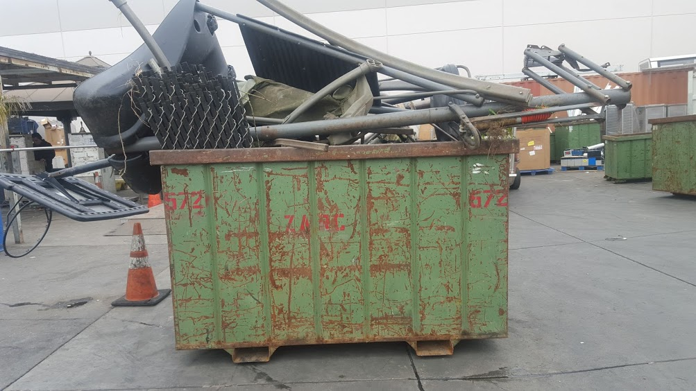 We salvage and recycle from our junk removal bins.