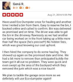 Yelp Review, Gena Brown 5 stars