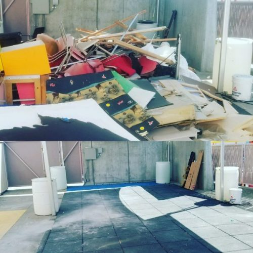 before and after dumpster rental in san francisco